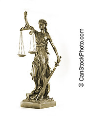 Justitia - Themis, mythological Greek goddess, symbol of...