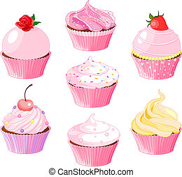Various cupcake - Set of various cupcake