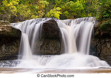 Upper Cataract Falls in Indiana - The right side of Upper...