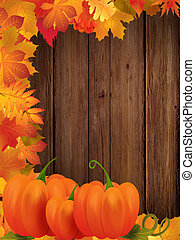 Autumn frame - Background