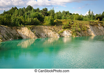 Old Chalk quarry landscape