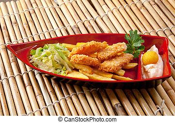caja, alimento, pollo, Rápido