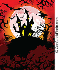 Spooky Halloween Theme - Halloween theme with spooky haunted...