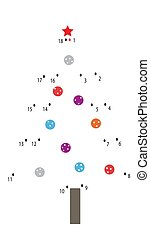Christmas tree - connect the dots and get a picture