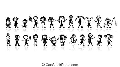 Set of 24 drawing peoples for your design