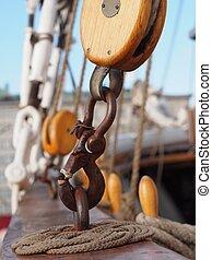 Carabiner on a Sailing Ship