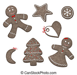 Christmas cookies - Collection of different Christmas...