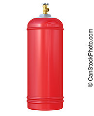 red gas balloon
