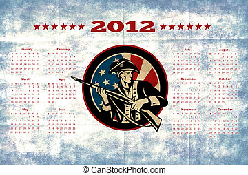 American Patriot Flag Poster Calendar 2012
