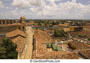 Typical colonial street, Trinidad, Cuba - View of Trinidad...