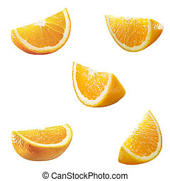 5 high res orange partitions - 5 high resolution orange...