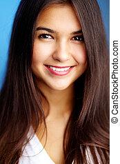 Attractive teenager - Portrait of positive teenage girl...