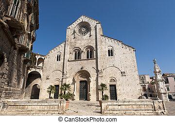 Bitonto Bari, Puglia, Italy - Old cathedral in Romanesque...