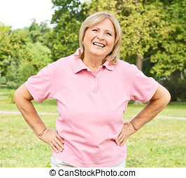 successful senior woman - Portrait of successful senior...