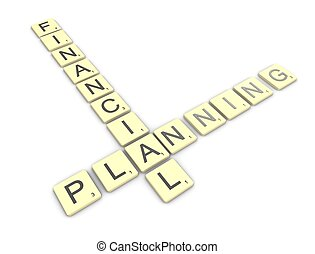Financial planning - 3d rendering, conceptual image,...