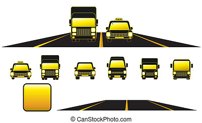 set transport object with road and