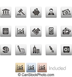Business and Finance Metalic - The EPS file includes 4 color...