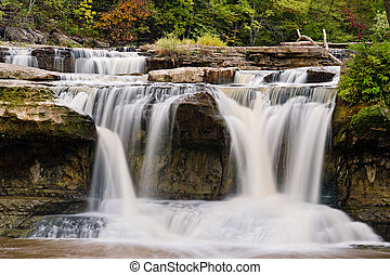 Upper Cataract Falls, Indiana - Indianas Upper Cataract...