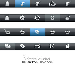Shopping Icons / Blackbar