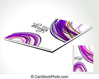 abstract magazine cover with wave vector illustration