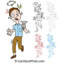 Medication Side Effects - An image of a man experiencing...
