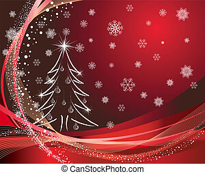 christmas card - Beautiful vector Christmas New Year card...