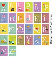 Colorful abc letters illustration