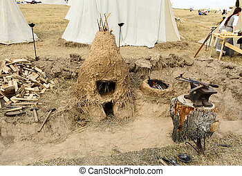 Sergiev Posad - August 27, 2011:clay oven for sublimation to...