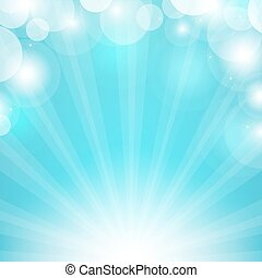 Blue Sunburst, Vector Illustration
