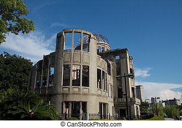 Atomic Bomb Dome, Hiroshima - View of the Hiroshima Peace...