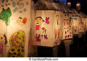 Japanese Paper Lanterns - Traditional japanese paper...
