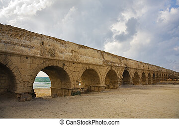 Aqueduct - Perfectly kept aqueduct of the Roman period at...