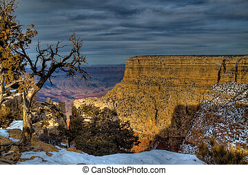 AZ-Grand Canyon S. Rim-Moran Point - This view is from Moran...