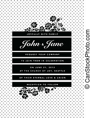 Vector Dot Pattern and Floral Frame
