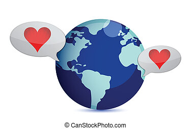 long distance relationship illustration design