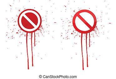 do not warning ink splatter sign