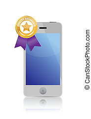 Quality assurance seal on phone