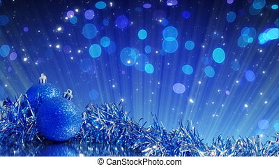blue christmas tree decoration loop - semless loop holiday...