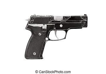 engraving gun isolated