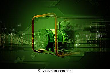 Generator - Digital illustration of a generator in colour...