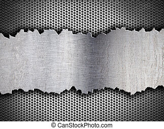 grunge crack metal background tempalte
