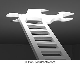 Stairs to success 3d render