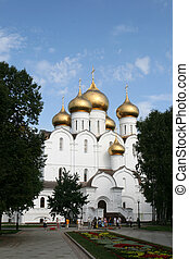 Uspensky cathedral in Yaroslavl Russia