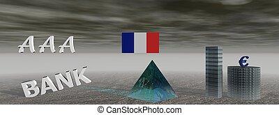 bank and aaa - bank and euro and flag