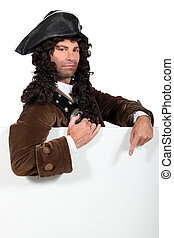 portrait of a man in pirate costume