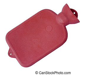 vintage hot water bottle isolated over a white background