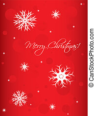 special Christmas background with white snowflakes