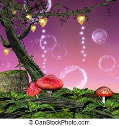 Enchanted mushrooms - Enchanted nature series - enchanted...