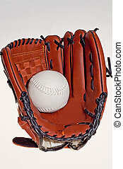 Baseball glove - The baseball glove  on the white background