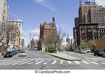 Street in Manhattan - The streets in Chelsea area of...
